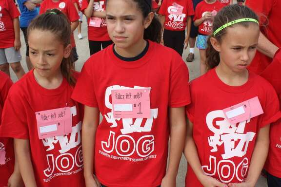 Get Fit Jog has launched the athletic careers of many, many high school athletes and even one Major League Baseball player. It definitely launched the athletic careers of these three young ladies. From L-R, Erika Tafolla, Reagan Gallagher and Eryn Livingston patiently wait for the start when they were fifth graders. Just last month, Gallagher was named the recipient of the Joan Propp Award at the Brown Relays, the school district's big track meet.