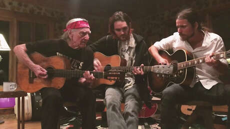 Willie Nelson and family during the Luck Presents Til Further Notice livestream.