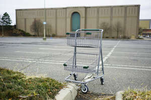 A view of the empty lot at the temporarily closed Macy's store in Colonie Center on Thursday, March 19, 2020, in Colonie, N.Y.  (Paul Buckowski/Times Union)