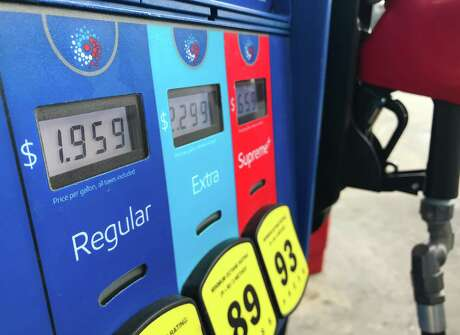 Regular gasoline is shown priced just under $2.00 at a station Tuesday, March 10, 2020 in Houston.
