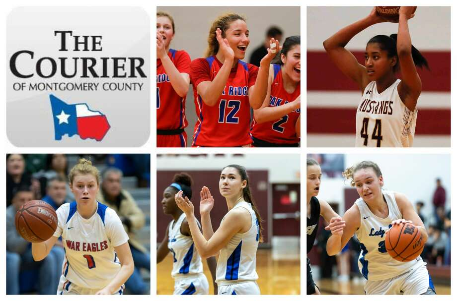 Oak Ridge's Mersadez Nephew and Nikki Petrakovitz, New Caney's Abigail Lynch and Tori Garza, and Magnolia West's Kamryn Jones are The Courier's nominees for Player of the Year. Photo: Staff Photos