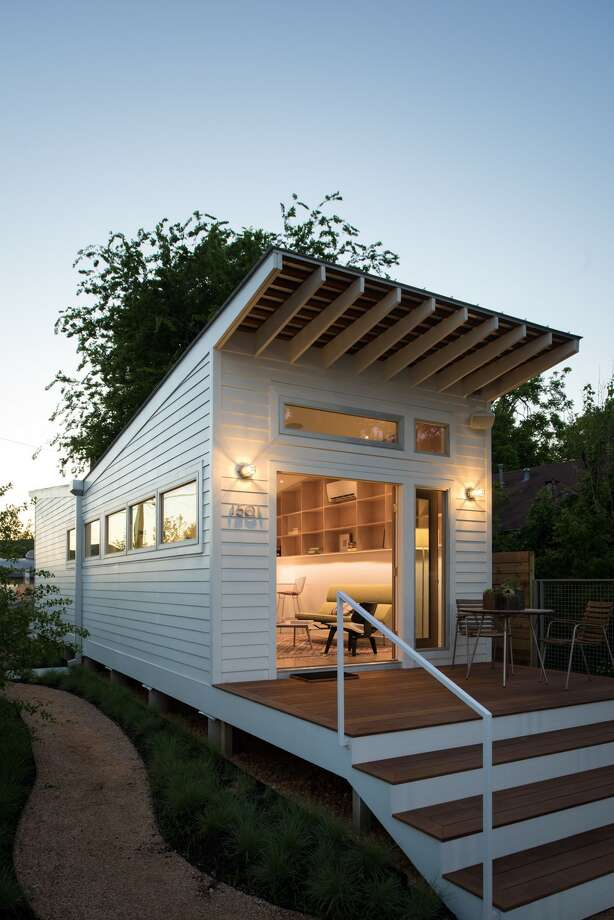 Diminutive homes with a sleek, clean design have become architect Brett Zamore's signature style. A tiny home community is now flourishing in Houston's East End Revitalized. Photo: Brett Zamore