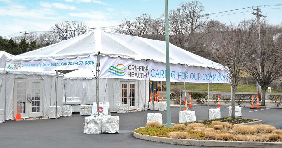 Griffin Health is providing a drive-up collection facility for COVID-19 testing on the Griffin Hospital campus. Only patients with a test order from their healthcare provider and a scheduled appointment will be tested. Photo: Contributed Photo / / Connecticut Post