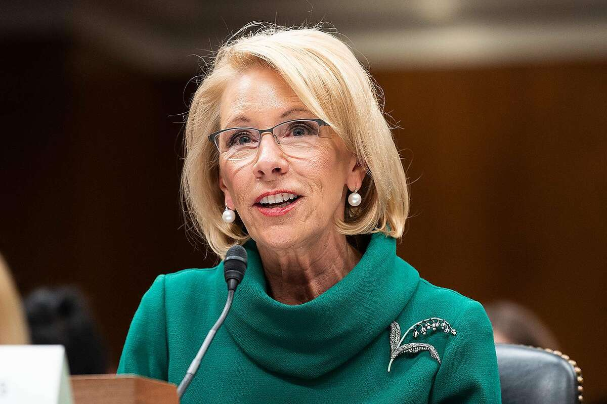 March 5, 2020 - Washington, DC, United States: Betsy DeVos, Secretary of Education, at a hearing of the Senate Appropriations Subcommittee on Labor, Health and Human Services, Education, and Related Agencies. (Michael Brochstein/Sipa USA/TNS)
