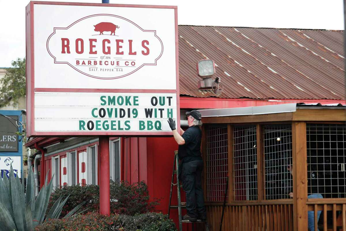 The sign outside Roegels Barbecue Co.