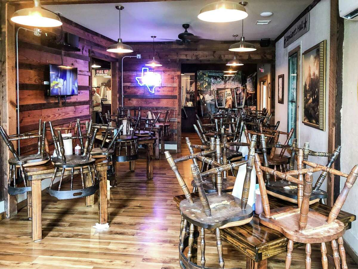The closed dining room at Tejas Chocolate & Barbecue