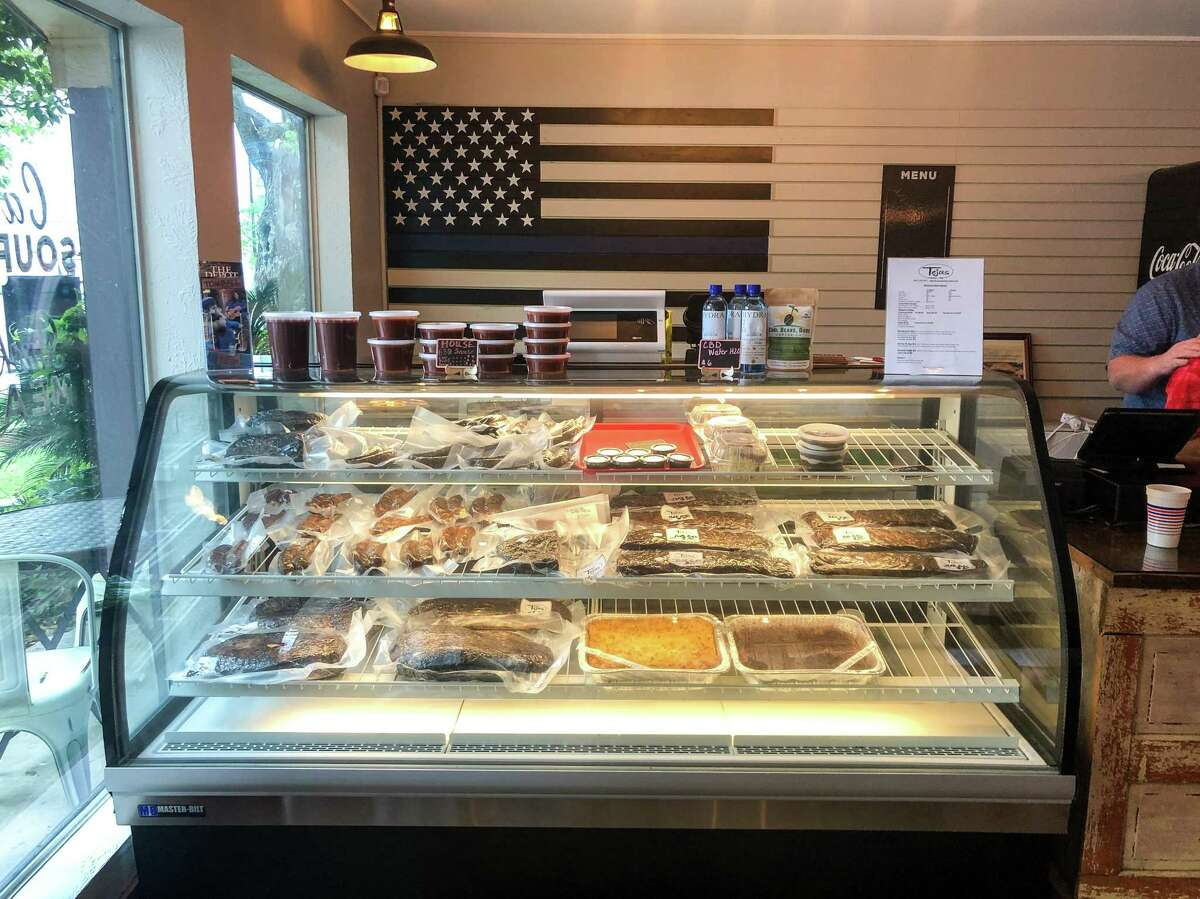 The to-go counter at Tejas Chocolate & Barbecue in Tomball