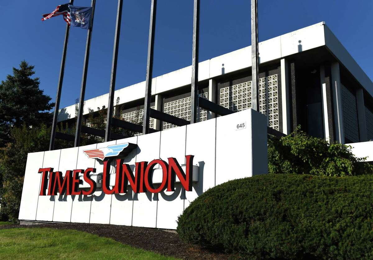 Exterior of the Times Union building on Friday, Sept. 2, 2016, at Albany-Shaker Road in Colonie, N.Y. (Will Waldron/Times Union)