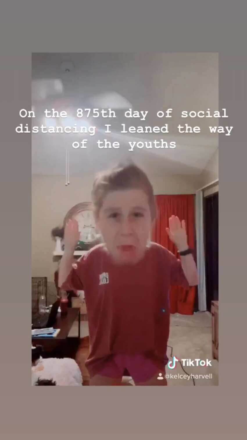 Trying a new hobby and participating in one of many popular trends on TikTok,