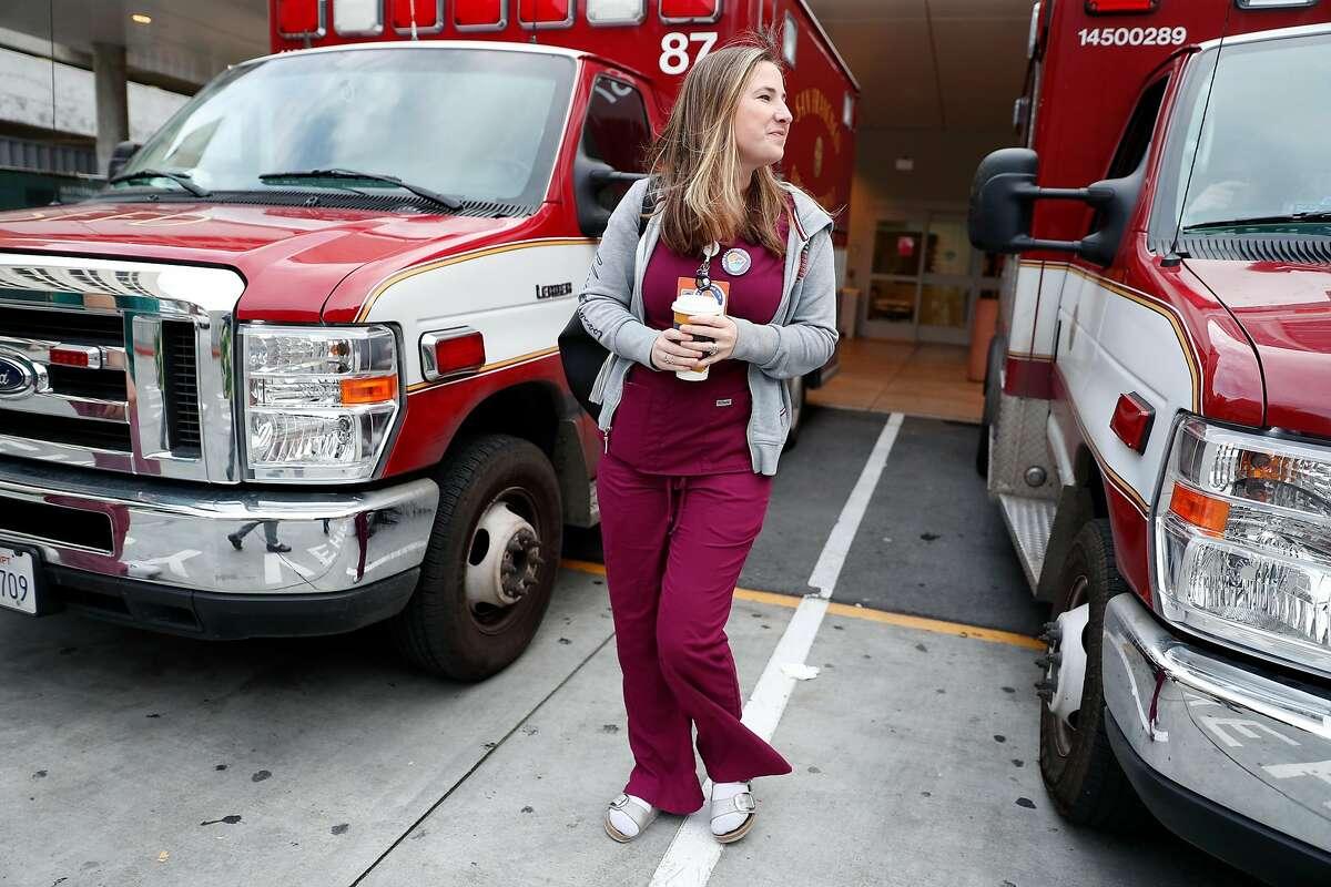 Emergency room nurse Christa Duran at San Francisco General Hospital in San Francisco, Calif., on Thursday, January 23, 2020.