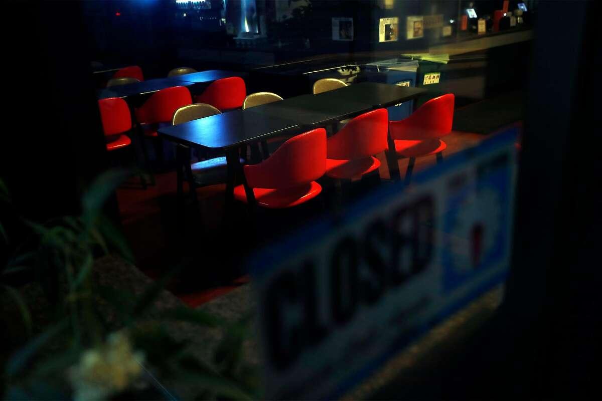 Coronavirus lockdown affected restaurant- Lee's Deli on Battery Street in San Francisco, Calif., on Tuesday, March 17, 2020.