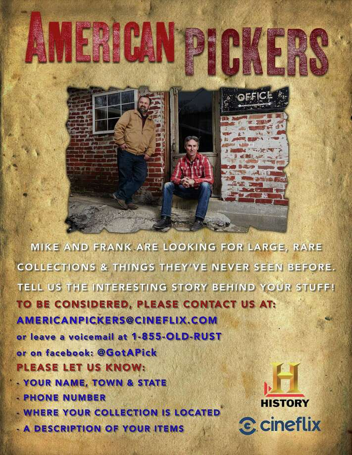 American Pickers are coming to New England this summer, and are looking for collectors to visit. Photo: American Pickers / Contributed Photo
