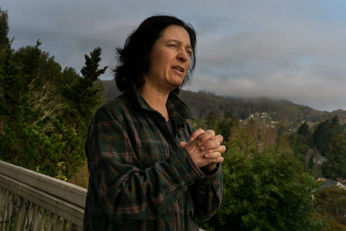 Shannon Bennett, Cal Academy of Sciences, Chief of Science studies infectious diseases that can be transmitted from animals to humans. Here, she is at her home speaking about the coronavirus on Friday, March 20, 2020, in Mill Valley, Calif.