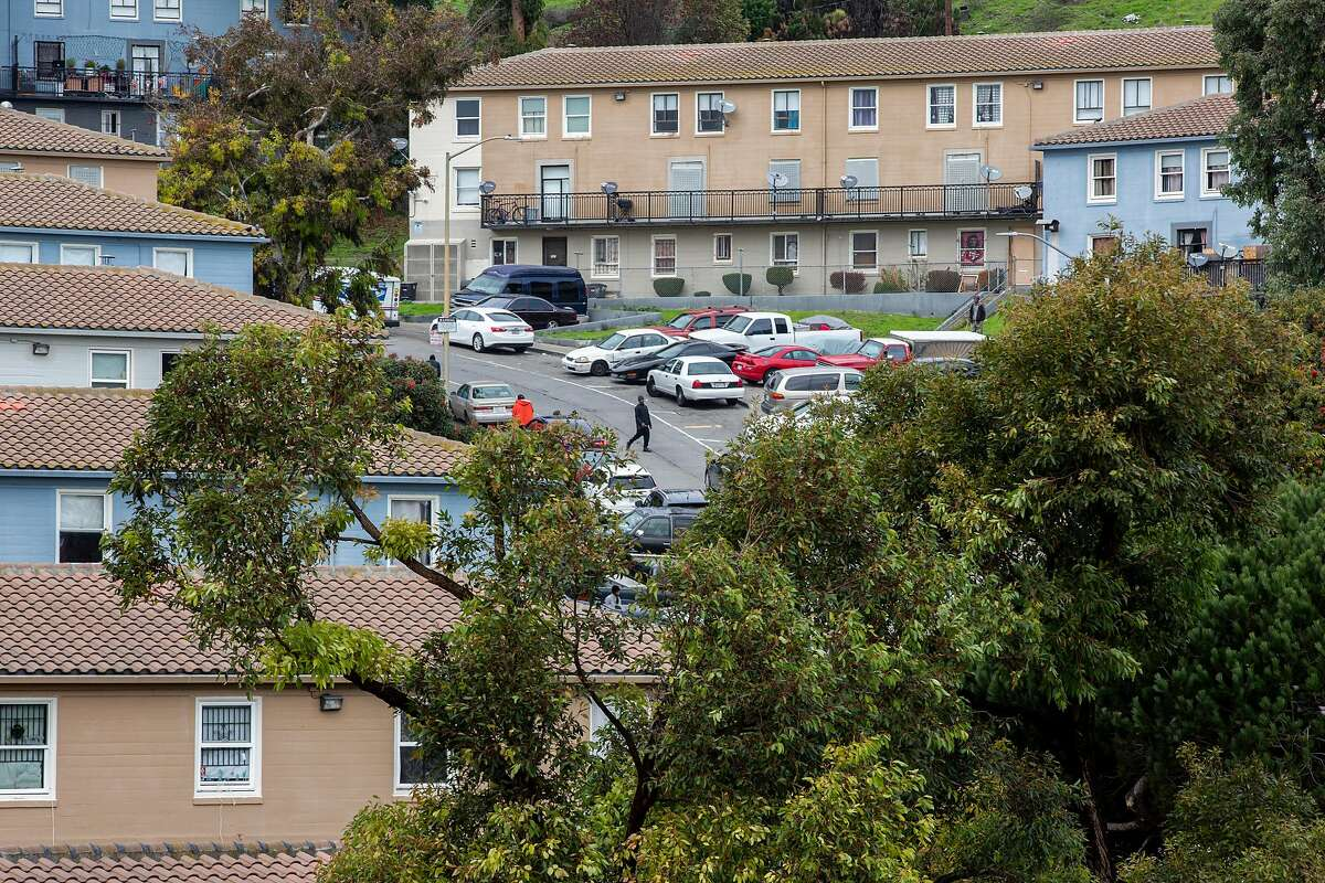 The view of the Potrero Hill neighborhood seen from the roof of BRIDGE Housing at 1011 Connecticut Street on Thursday, Dec. 19, 2019, in San Francisco, Calif.