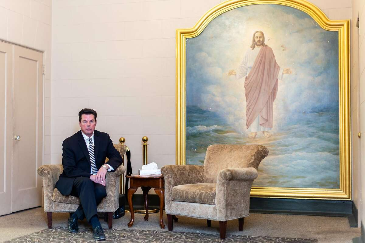 Thomas V. Halloran, general manager at Duggan's Funeral Service, poses for a portrait on Friday, March 20, 2020, in San Francisco, Calif.