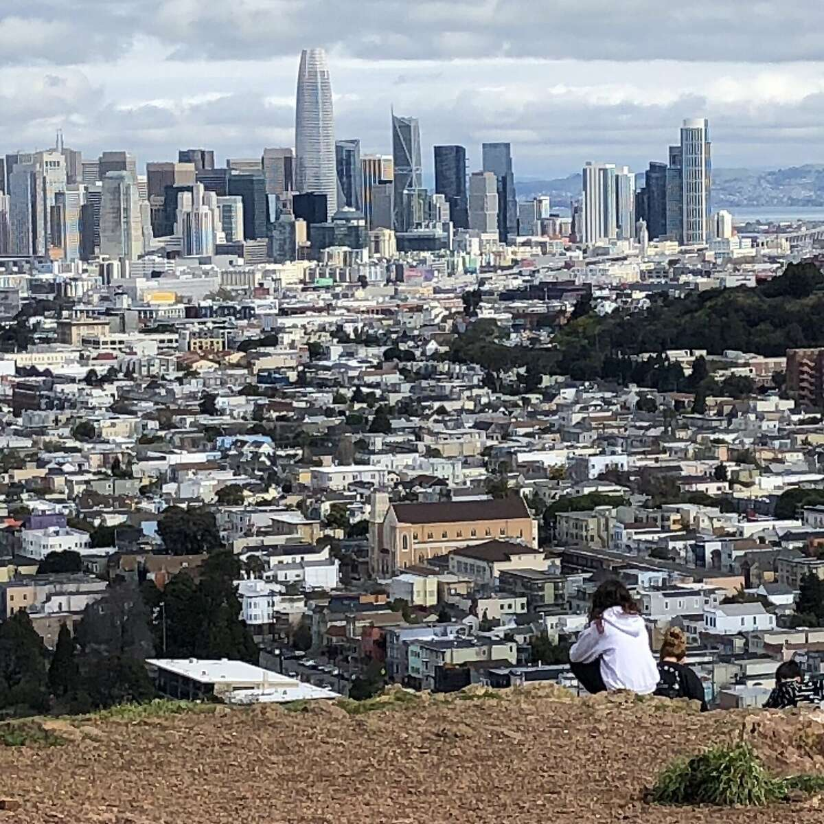The view of San Francisco from Bernal hill