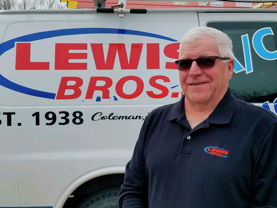 Dennis Lewis owns Lewis Bros. Air Conditioning, Refrigeration, Inc. in Coleman. (Ron Beacom/For the Daily News)