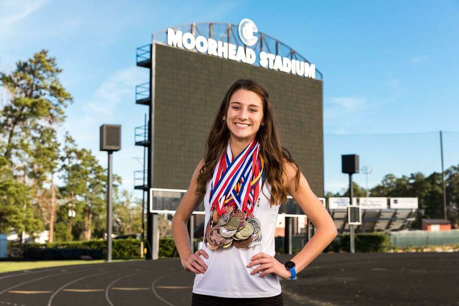 Conroe senior track athlete Hannah Gault plans to run and study Biology at the University of Houston after graduation. Photo: Submitted / Submitted