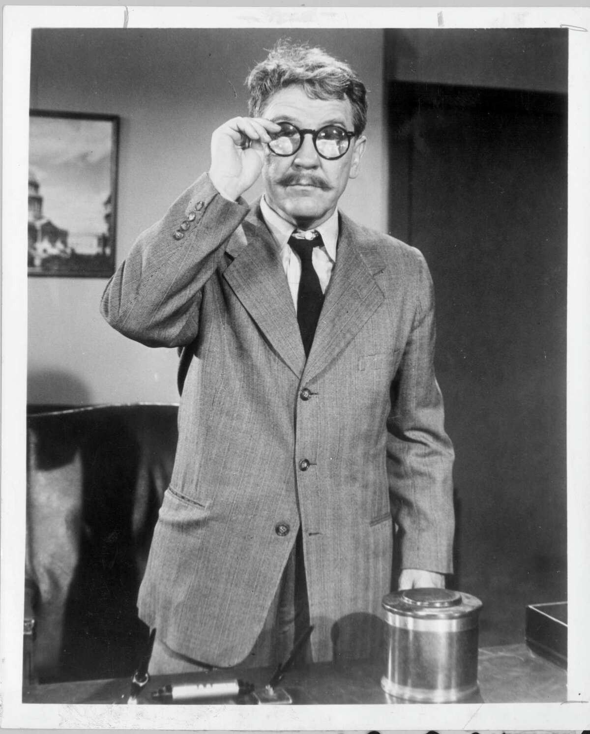 """Burgess Meredith in the """"Time Enough at Last"""" episode of """"The """"Twilight Zone."""""""