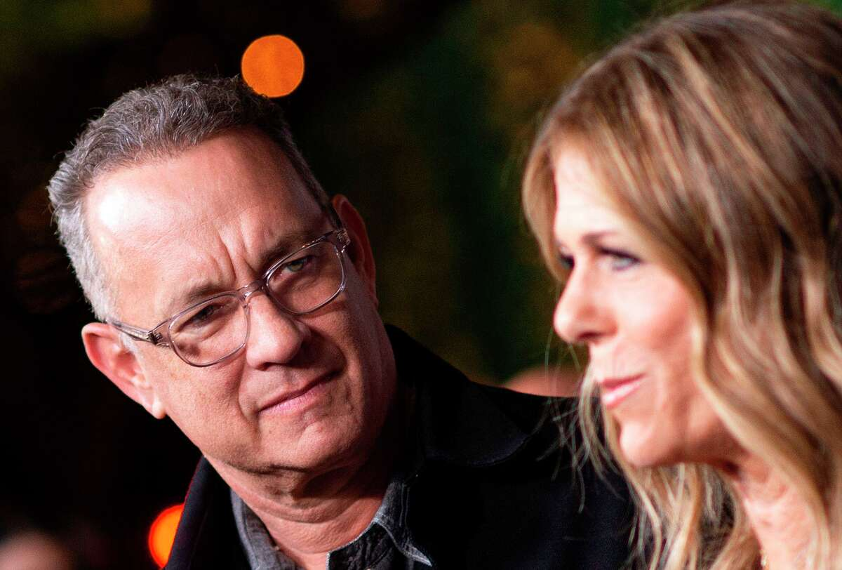 FILE - Actors Tom Hanks (left) and his wife actress/singer Rita Wilson attend