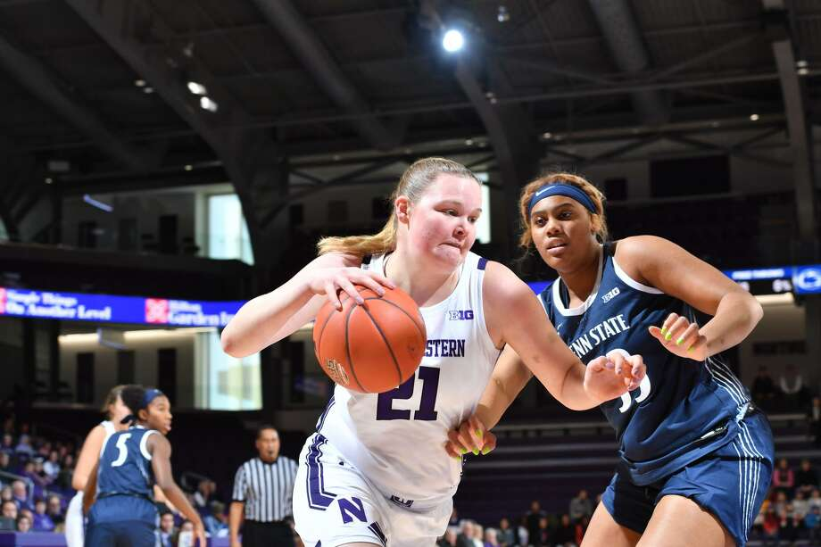 Abbie Wolf, a 2016 Greenwich High School graduate, led the Northwestern University women's basketball team in rebounds and was fourth on the team in scoring this winter. The Wildcats earned a share of the Big 10 regular season title. Photo: Stephen Carrera /Northwestern Athletics