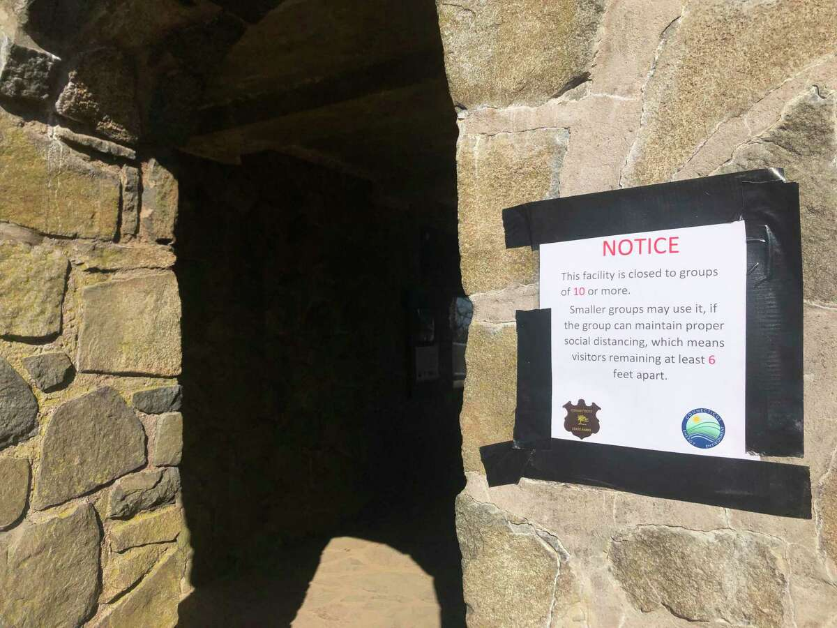 Thousands of people flocked to Sleeping Giant State Park Saturday, March 21, 2020, to enjoy one of the few remaining open places in the state amid a statewide shutdown due to COVID-19 Coronavirus.