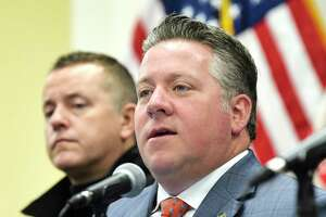 Albany County Executive Dan McCoy speaks about the COVID-19 cases in Albany County during a press conference on Thursday, March 12, 2020, in Albany, N.Y. (Paul Buckowski/Times Union)