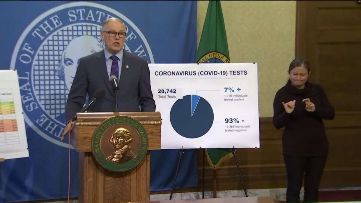 Gov. Jay Inslee gets a 74% approval rating for his handling of the COVID-19 pandemic in a new Microsoft News poll. Washington was the first state to experience a death from the virus. Inslee issued his