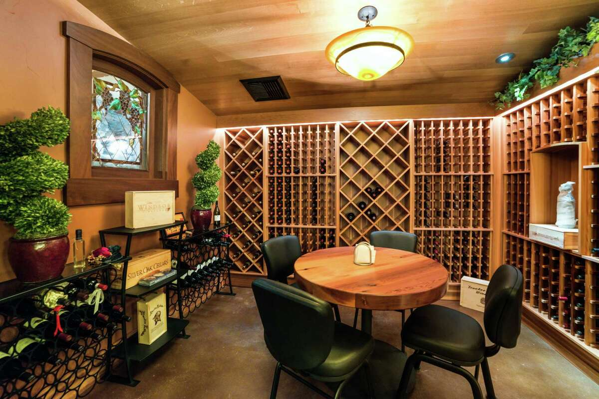 The Clio home includes a wine cellar with built-in storage.