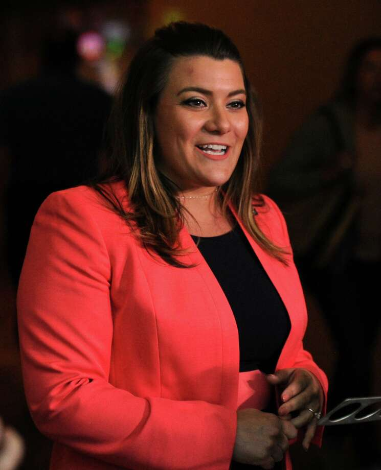 New Britain Mayor Erin Stewart at a press conference prior to the Republican State Convention at Foxwoods Casino, Mashantucket, Conn., Friday, May 11, 2018. On Sunday, Stewart announced New Britain has confirmed its first confirmed case of a patient with COVID-19. Photo: Bob Luckey Jr. / Hearst Connecticut Media / Greenwich Time