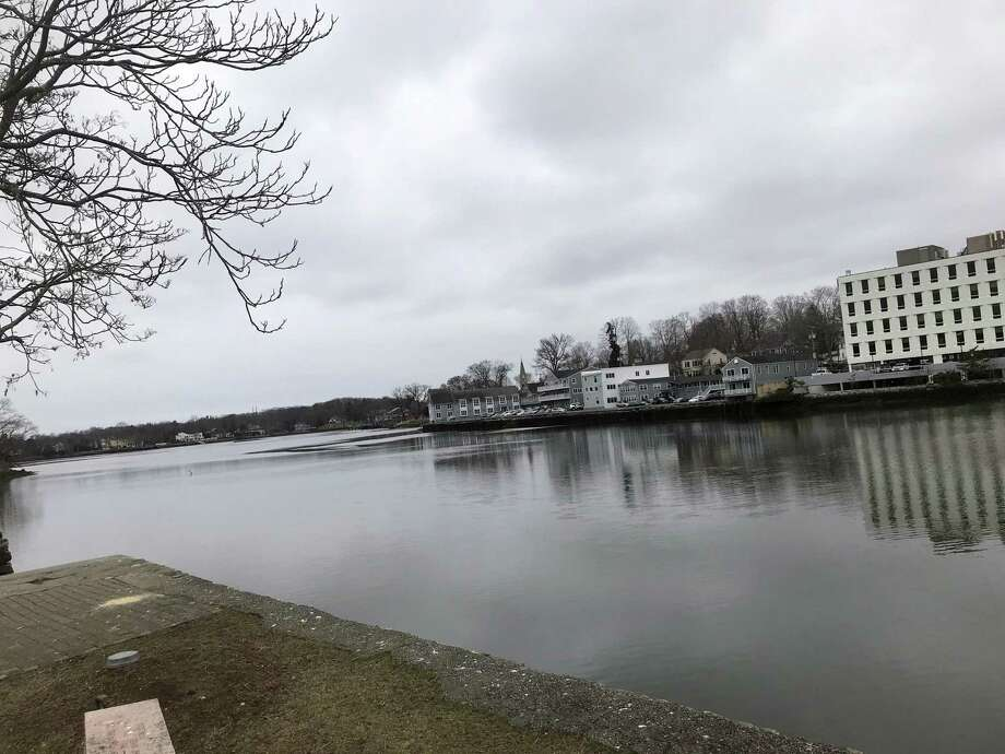 Cloudy skies above the Saugatuck River in Westport on March 12, 2020. Photo: DJ Simmons /Hearst Connecticut Media /