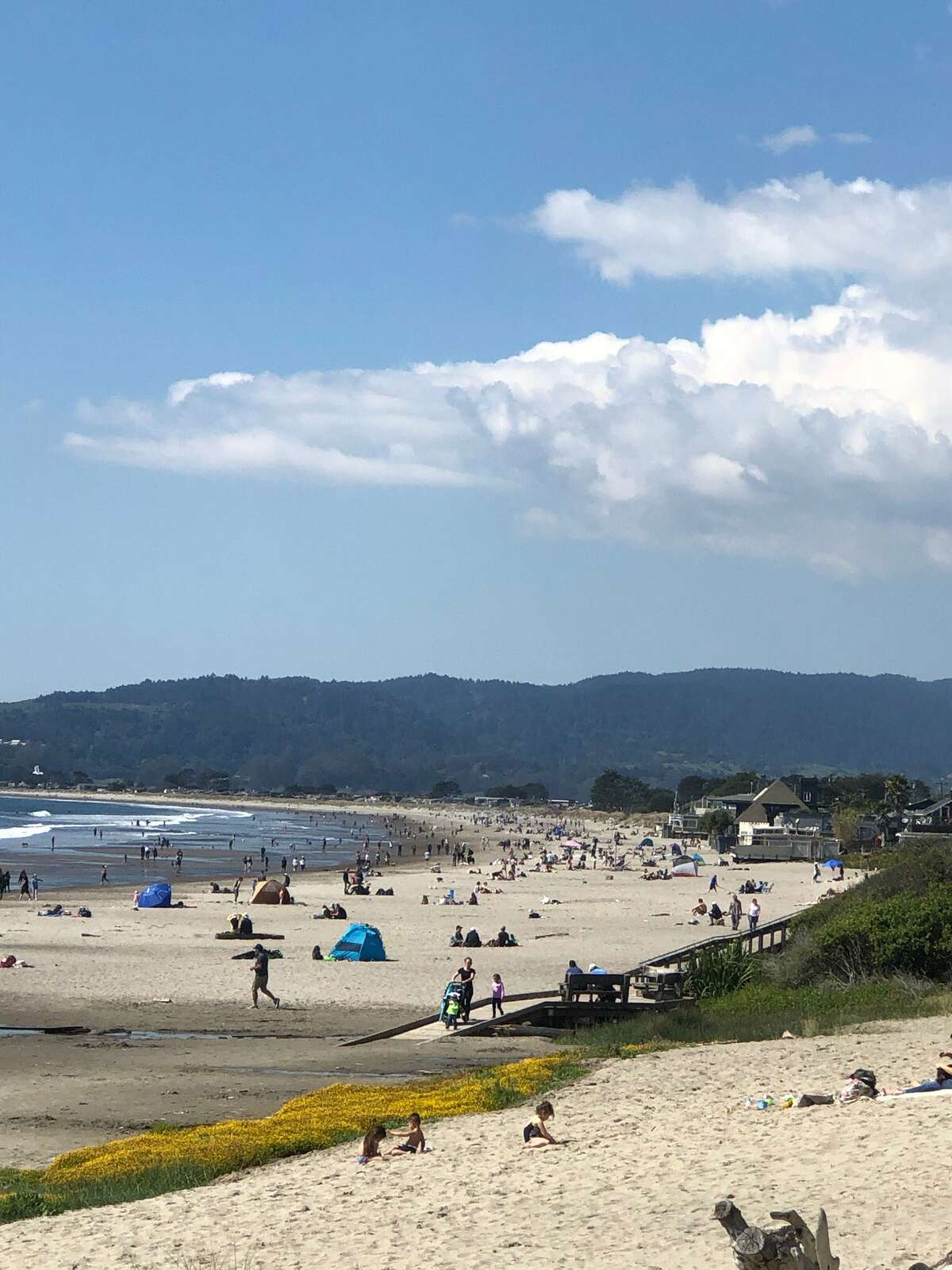 The Marin County Sheriff asked people to stay home and shelter in place after hoards went to beaches and parks on March 21, 2020, prompting road closures.