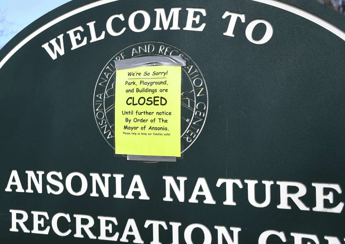 Closed due to the coronavirus pandemic, the Ansonia Nature Center closed. The city, rather than lay off its part-time staff at this moment, has re-purposed them.