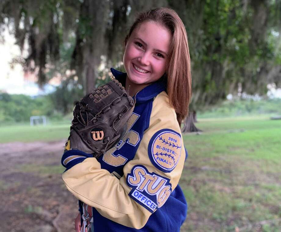 Lake Creek senior softball player Abby Kelly hopes to work in law and plans to continue to play intramural softball in college. Photo: Submitted