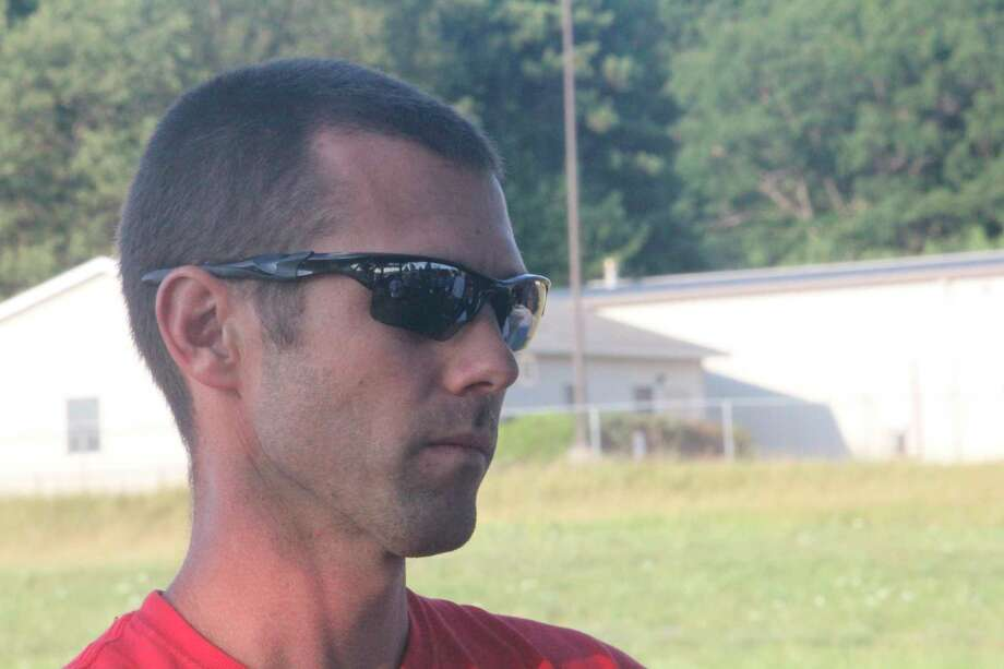 Zach Hatfield is making his debut as Chippewa Hills girls track coach. (Pioneer photo/John Raffel)