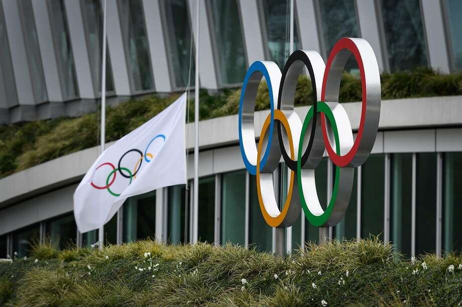 The Olympic rings are pictured in front of the headquarters of the International Olympic Committee in Lausanne on Sunday. Photo: Fabriuce Coffrini / Getty Images