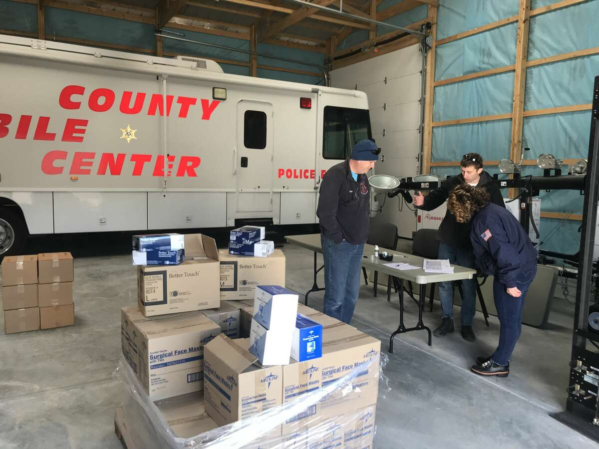 The Saratoga County Office of Emergency Services distributed personal protection equipment (PPE) and hand sanitizer to nursing home facilities, senior facilities, medical support staff and emergency responders this past weekend March 22, 2020.
