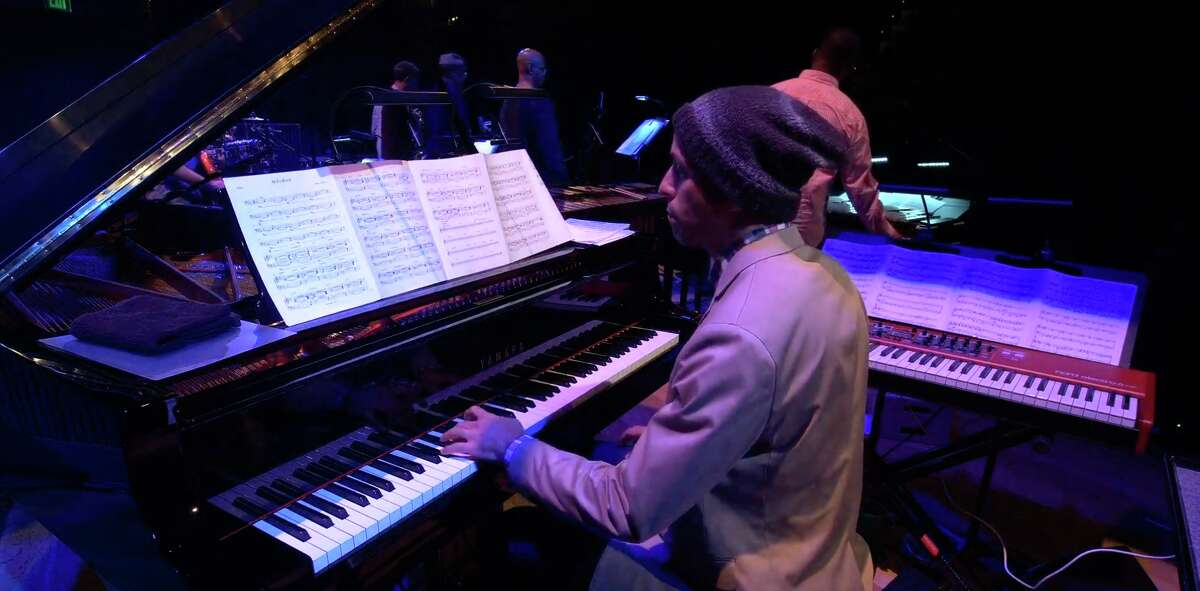 Pianist Edward Simon plays during SFJAZZ's new online concert series,