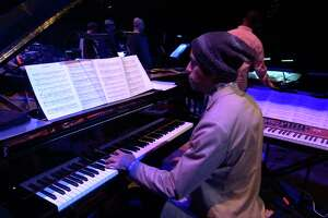 """Pianist Edward Simon plays during SFJAZZ's new online concert series, """"Fridays at Five."""""""