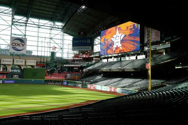 Minute Maid Park will look a lot like this on Thursday, which was to have been opening day for the Astros.