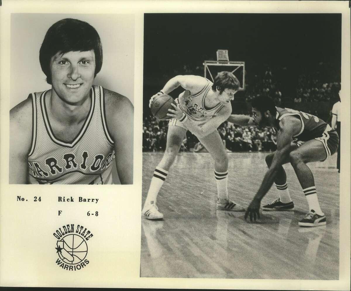 Rick Barry, Golden State Warriors Basketball Player, Number 24, Forward, 6-8