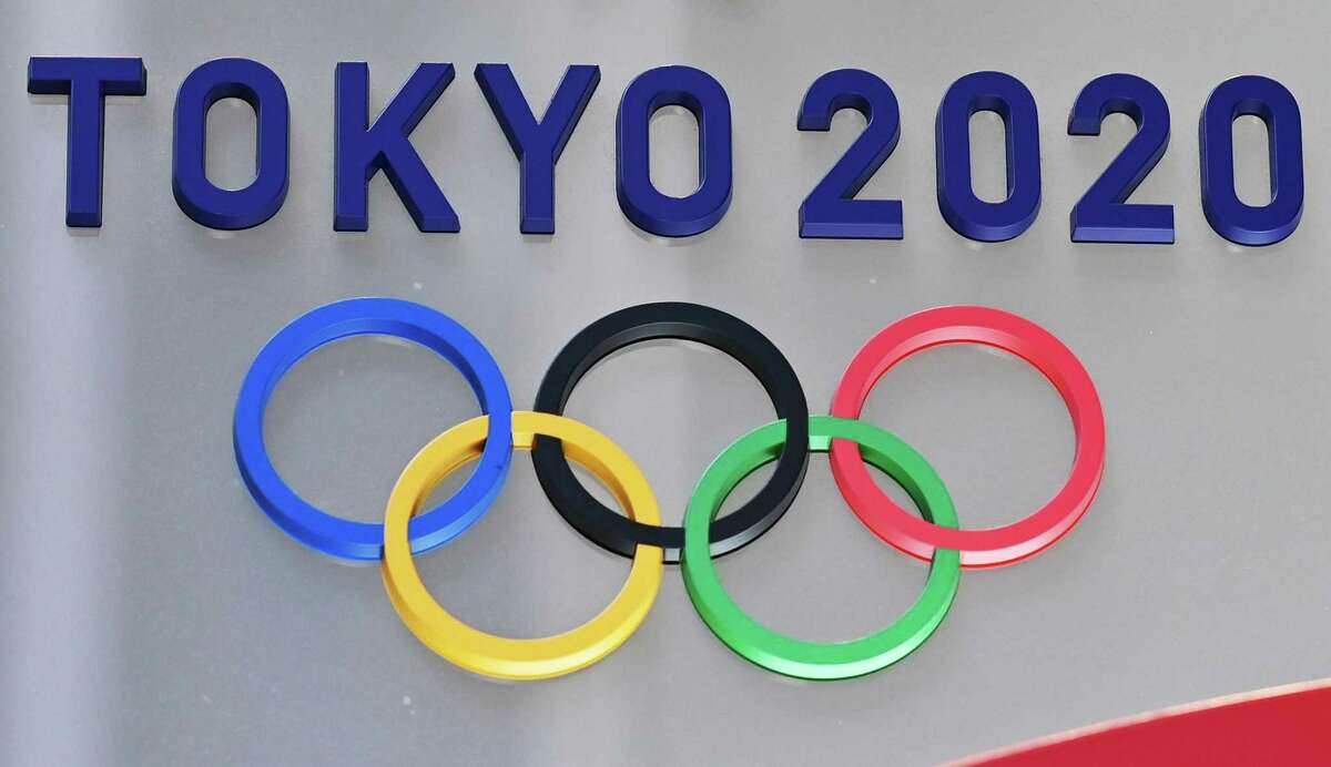 The logo for the 2020 Olympic Games, as seen in Tokyo last week.