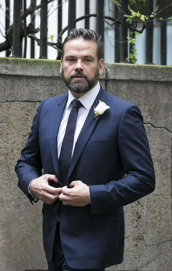 Lachlan Murdoch arrives for the wedding of Jerry Hall and Rupert Murdoch at St Brides Church on March 5, 2016 in London, England. Photo: John Phillips, Getty Images