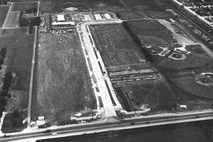 Aerial view of west Houston, circa 1963.