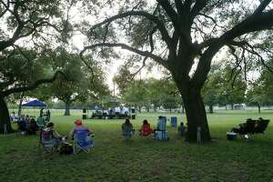People enjoy live music at Pickrell Park in Schertz on a Friday afternoon in June 2019. Guadalupe County reported its second confirmed case of COVID-19 on Sunday and alerted area residents who were at the H-E-B Plus in Schertz near the corner of Interstate 35 and FM 3009 on March 16, between 11 a.m. and 2 p.m., that they may have been exposed to coronavirus. If you were there during that time period and are experiencing symptoms of the virus — fever, coughing, sore throat, shortness of breath — and aren't in need of urgent medical care, isolate yourself at home and contact your health care provider for medical advice, county officials said.