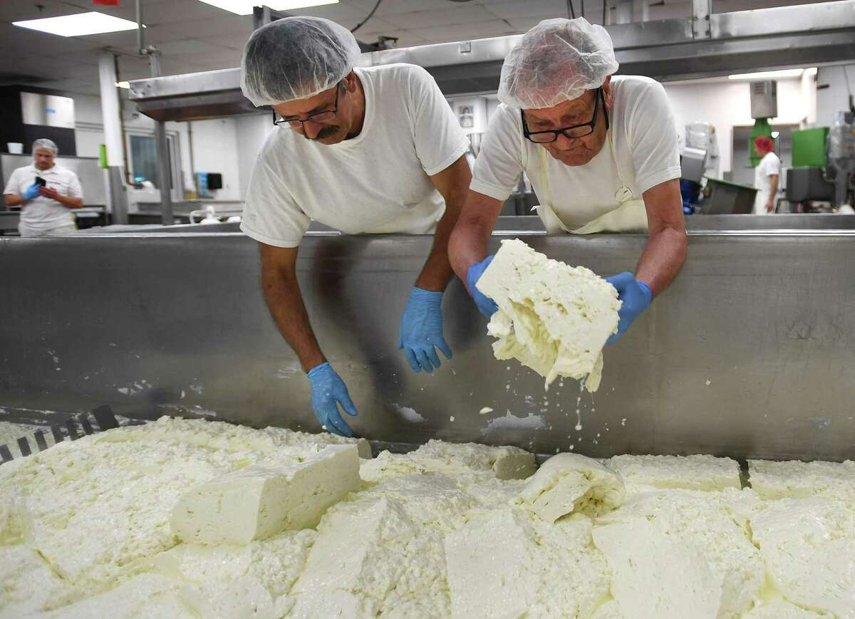 The Liuzzi Cheese factory in Hamden, Conn., in August 2019. Under an executive order that takes effect Monday, March 23, 2019, food producers are deemed essential under a list of such businesses that can remain open beyond March 23, 2019, as Connecticut works to slow the transmission of the novel coronavirus COVID-19.