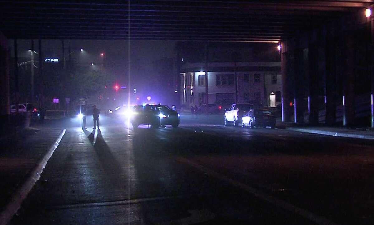 A San Antonio man was shot by men in masks Monday, according to the San Antonio Police Department.