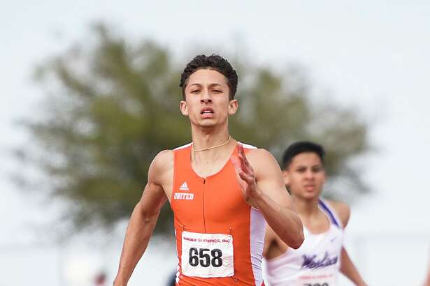 United's D'Carlo Calderon - who won a pair of gold medals when he last competed at the Border Olympics - was named an All-American by the New Balance National Indoor meet management.