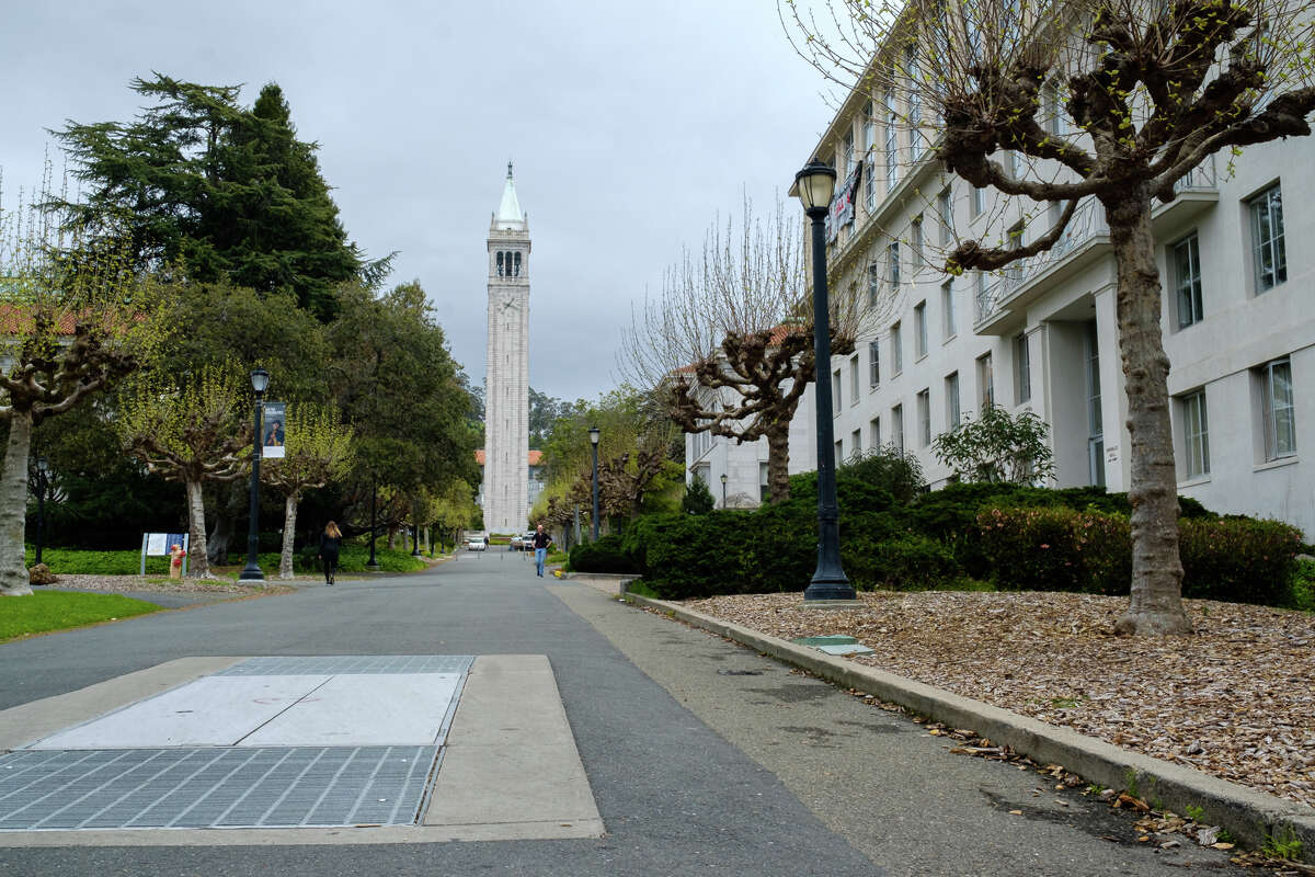 A abandoned tunnel runs under this path in the center of the UC Berkeley campus.
