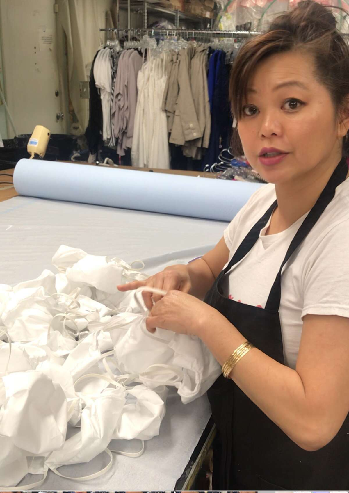 Dao said she's making as many as 150 masks a day now.